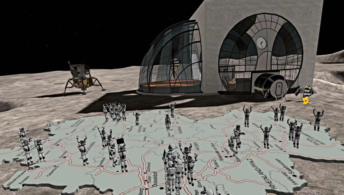 Virtual Germany Meetup No 1 on the moon